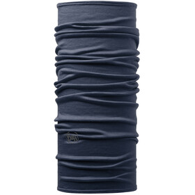 Buff Lightweight Merino Wool Neck Tube solid denim